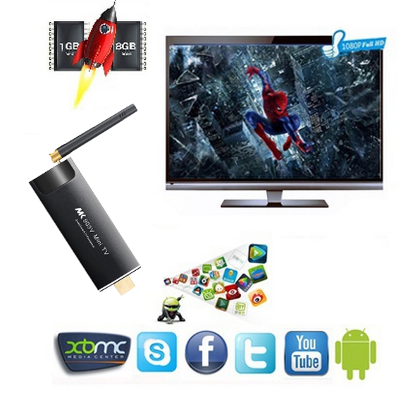 KODI Tv Stick with Remote MK903V Quad Core 2GB RAM Dual Band WIFI Smart Tv Box Android Porn