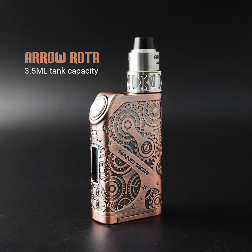 2017 Trending Products Vapor Cigarette Teslacigs Steampunk Nano 120W Start Kit FACTORY PRICE