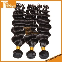 Good looking mongolian loose deep wavy more wavy 5pcs/set soft human hair wholesale
