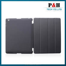 Hot selling Universal stylish magnetic smart stand leather case for ipad 2/3/4