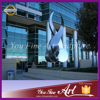 Art Stainless steel sculpture for building decoration