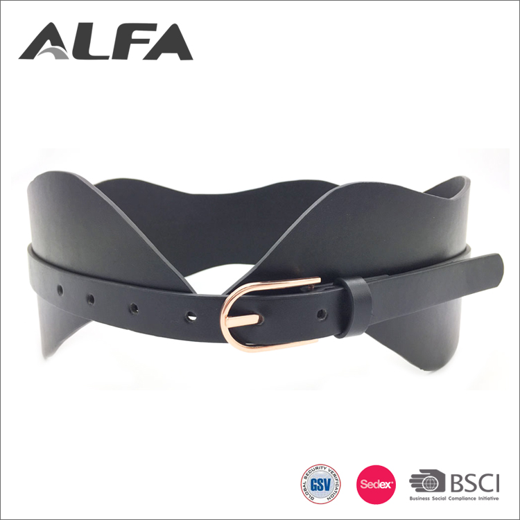 Alfa High Quality Products 80MM Wide Pu Leather Women Corset Blet
