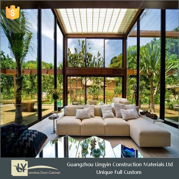 low price high quality aluminum window double glass for sunroom