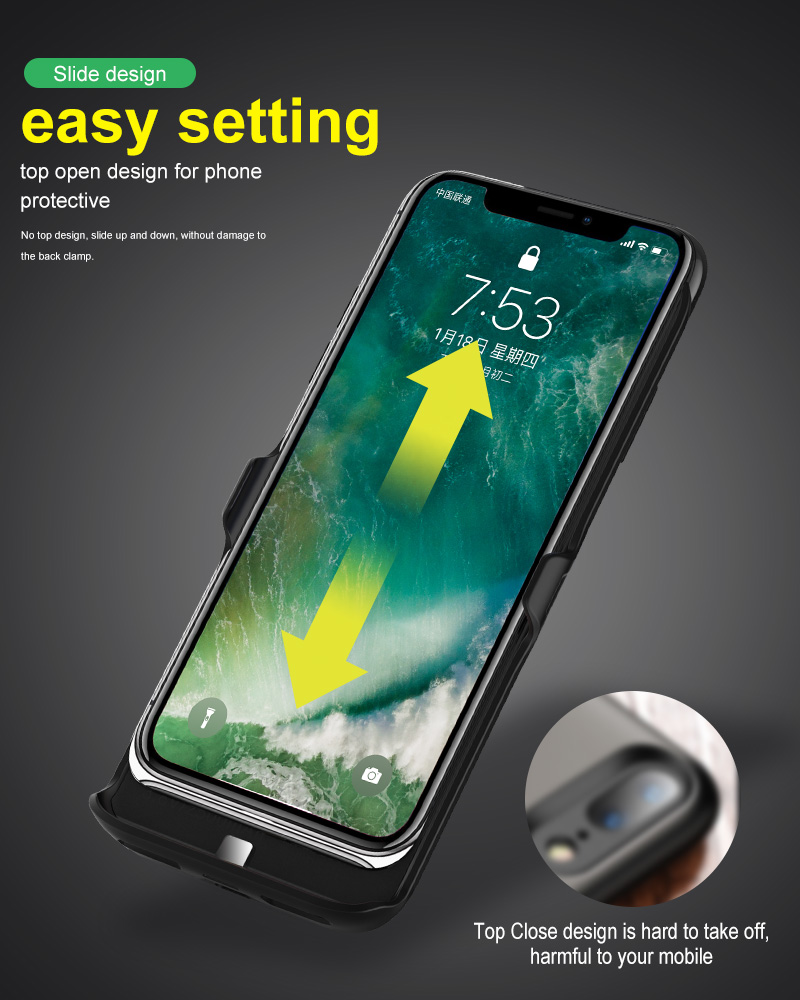 Mini smart device dual sim card dual standby phone case with 1500mah power bank for iphone