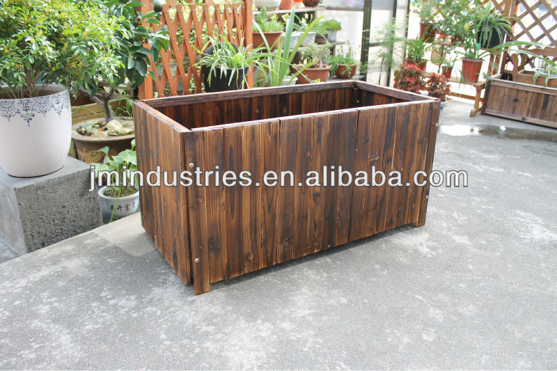 Decor painted wooden planter