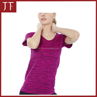 OEM Women Compression Short Sleeve Sport Tight Dri fit Fitness training T Shirt