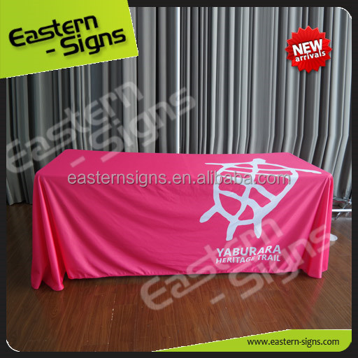Tension Fabric Easily Install Standrad Table Cloth With Logo