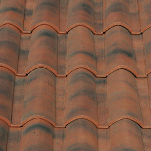 "Spanish, ""Aged Red"", ""Mixed"", roman ceramic roof tile, made of clay"
