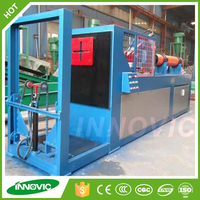 Car tire and truck tire crusher machine for waste tires