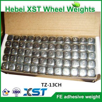 Motorcycles wheel weight chrome coated