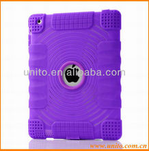Circle Pattern Silicon Case for iPad 3 2 With Dust plug&Logo hole