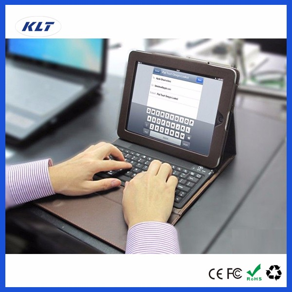 KLT 2 in 1 For Apple PC Leather Case for iPad Mini 1 2 3 4 For iPad Air 1 2 3 Pro Wireless Keyboard Cover Protector Stand Folio