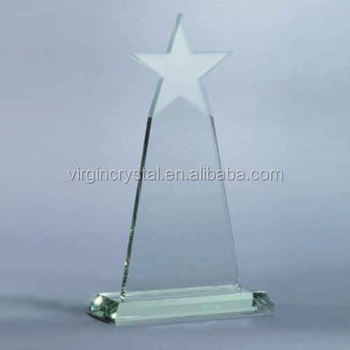 Hot Sale High quality Jade Crystal Tower Shape Awards With Star on Top as Busiiness Souvenir Gift & Office Table Decoration