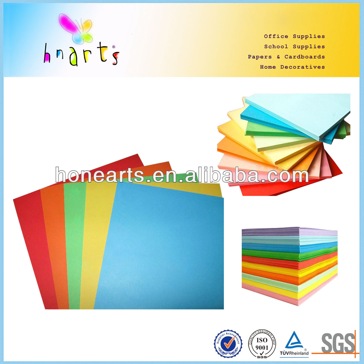 Cheap a4 color paper 80 gsm/210*297 color paper supplies
