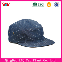 Polka dot pattern 5 Panel Cap With Velcro Strap
