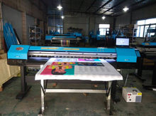 Multifunctional UV Printer for roll-based media and some rigid media after being fitted with removable tables