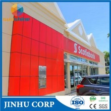 exterior aluminium composite panel/curtain wall cladding/acp/metal plastic sheet