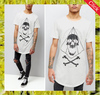 Hot selling fancy printed white t-shirt mens designer tees summer casual longline t shirt