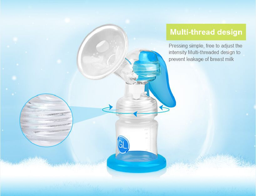 Gland Lansinoh Manual Breast Pump New & Improved Hand Movement Breastpump