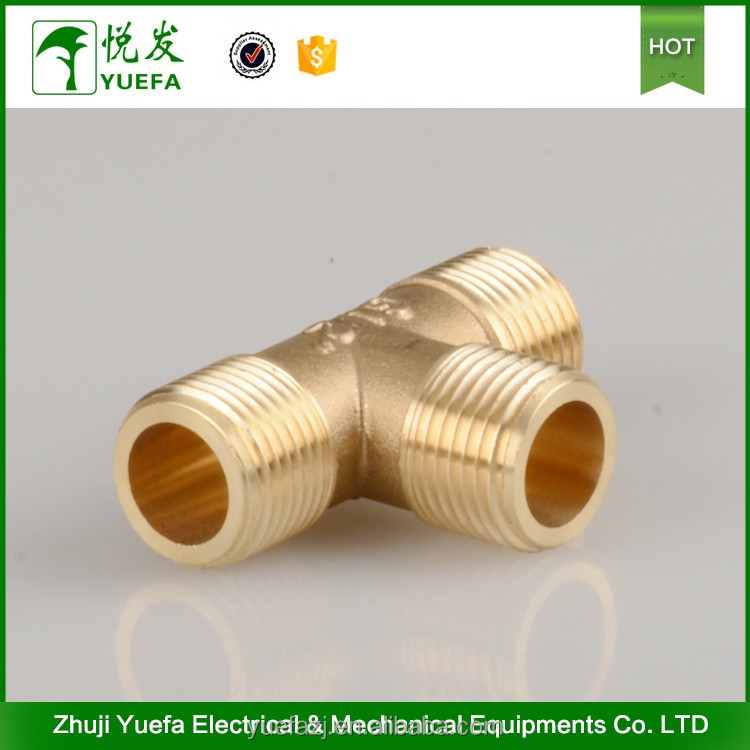 Air Condition Brass Pipe Tee Fittings