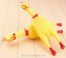 Factory Supply Scream Rubber Shrilling Chicken Pet Toys For Sale
