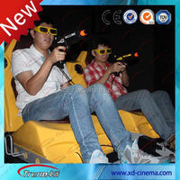 Electric system 5d 6d 7d motion cinema with interactive guns
