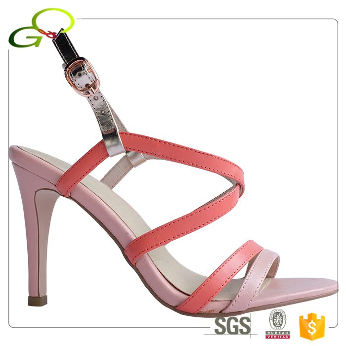 K18-8 Peach color new design bridal party wear fetish high heel shoes