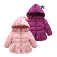 W1340 Fashion girls clothes jacket coat autumn winter jacket for baby kids cotton hoodies coat children girls tops outwear