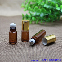 beautiful 2.5ML Amber Glass Essential Oil Bottle,mini glass vial for essential oil
