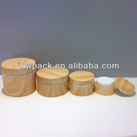 round shape cream jar acrylic cosmetic jar with wood spray