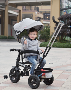 Rotatable kids tricycle baby tricycle with metal frame, EVA wheel or rubber wheel