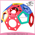 Outdoor rolling mobile plastic hemisphere kid play ground climbing wall