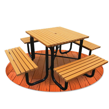 Outdoor Furniture galvanized steel frame wood coffee table garden round chairs tables