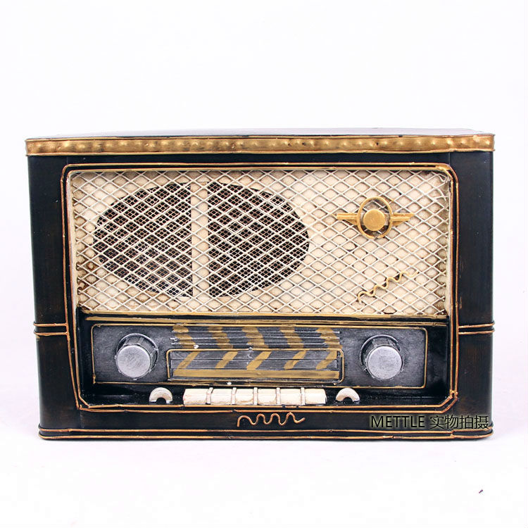 8113 Wrought iron,Germany Normandy old-style radios model ,props