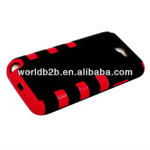 TPU & Rubber Hard Case Cover for Samsung Galaxy Note2/N7100