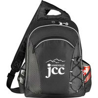 "Summit checkpoint-friendly compu-sling bag. Holds most 15"" laptops and comes with your logo."