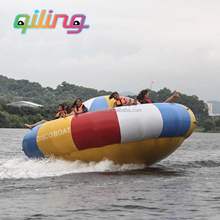 Adults aqua flaoting park game toy flying towable inflatable water sport
