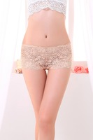 Sexy Lace Panty Printed Women Cute Briefs Ice Silk Seamless Underwear