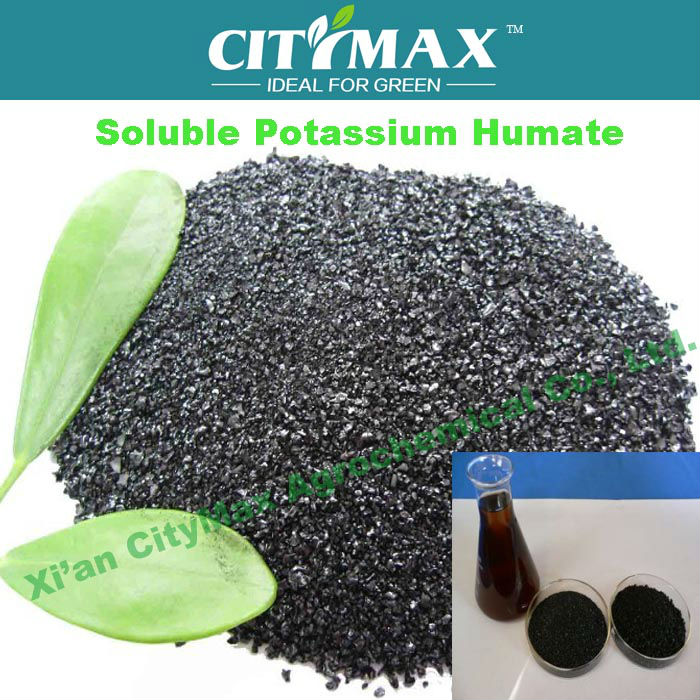 HOT!!! Strong Water soluble Potassium Humate from Leonardite organic zinc foliar fertilizer