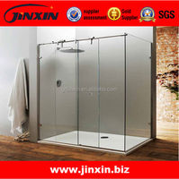 JINXIN barn wood_fancy door with hardware_solid wooden sliding doors