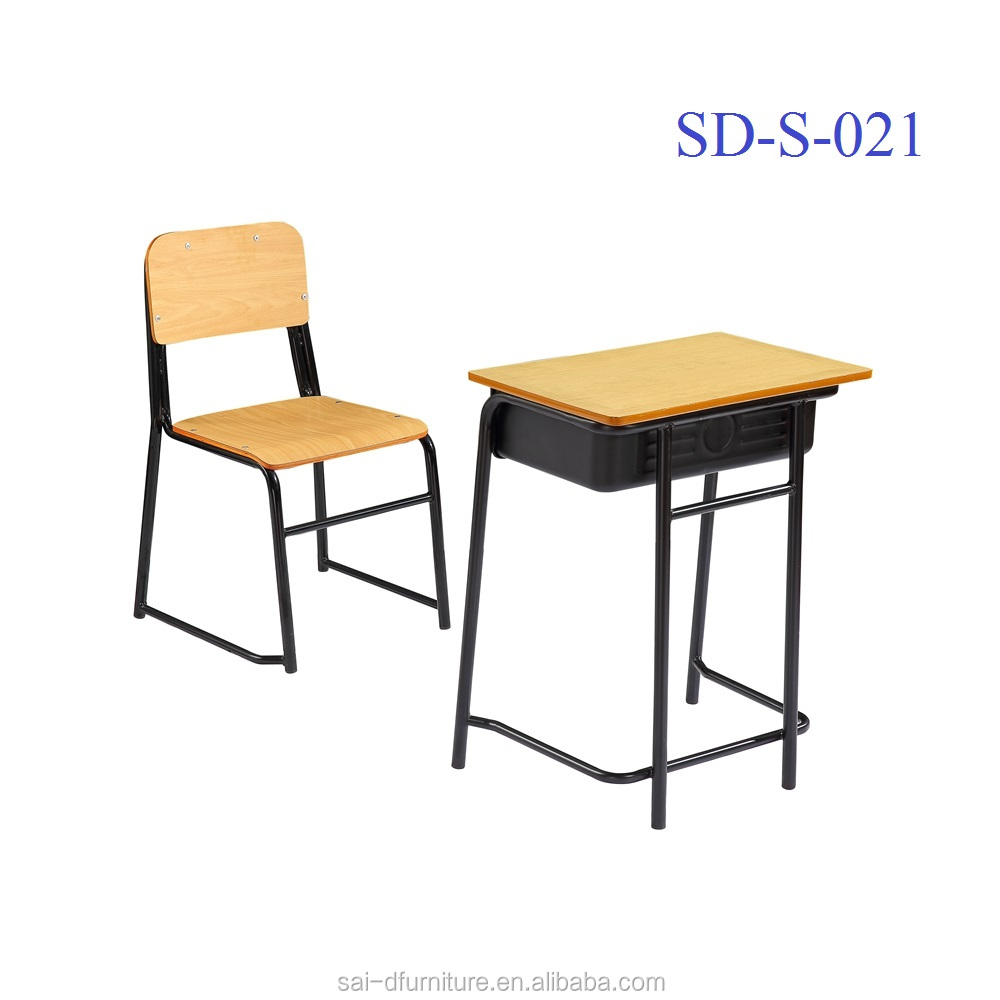 No.SD-S-021 Customized Middle School Desk And Chair, Classroom Student Table And Chair Set