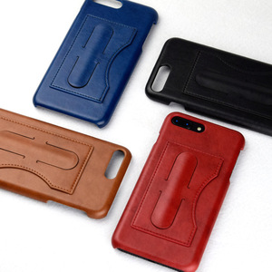 China manufacturer cheap bulk PU leather holder mobile phone case for iPhone 6s 7 8 Plus X