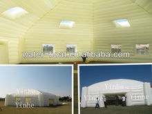 Most popular design white inflatable cubic tent, beautiful party marquee on sale