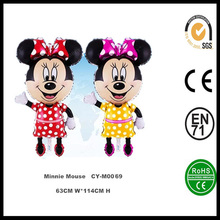 New Design Giant Minnie Mouse Shaped Helium Foil Balloons,Kids Toys Mickey Mouse Balloon,Birthday Party minnie Mouse Balloon