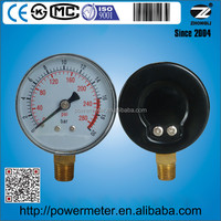 2-1/2IN Commercial pressure gauge Bourdon tube type Lower Mount 0- 280 PSI