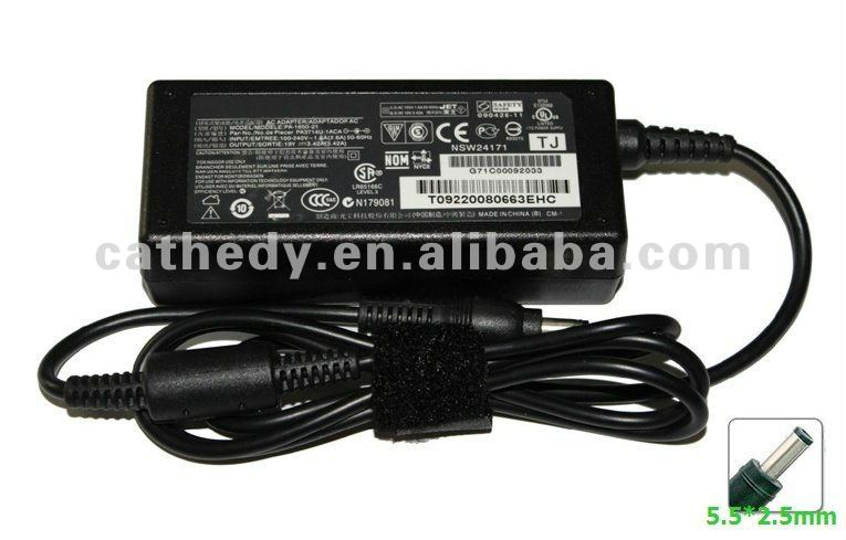 adattatore di CA AC Adapter 19V 3.42A Power Cargador For TOSHIBA Satellite A100 A105 A135 A205 L15 L30 M105 M115 M30X Series