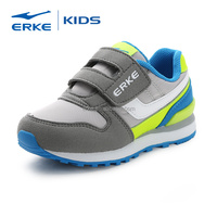 ERKE wholesale brand fashion easy wear hook and loop closure for boys casual shoes (little kid)