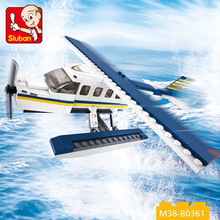 new design toy product 214 PCS building blocks toy airplane for wholesale