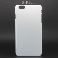 For iPhone 6 plus 3D Sublimation Plastic Blank Mobile Phone Case Heat Transfer Printing Cover