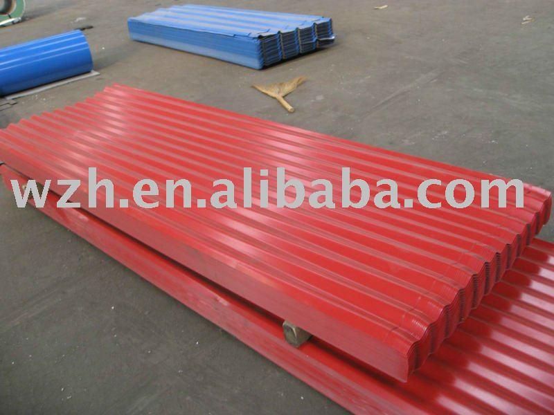 coloured galvanized steel roofing sheets